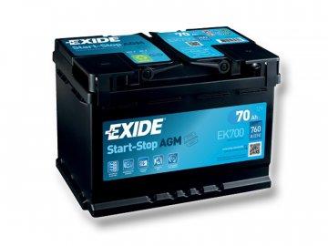Autobaterie EXIDE START-STOP AGM 70Ah, 12V, EK700