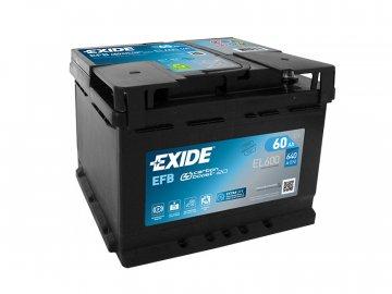 Autobaterie EXIDE START-STOP EFB 60Ah, 12V, EL600