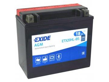 Motobaterie EXIDE ETX20HL-BS, 12V, 18Ah, 270A