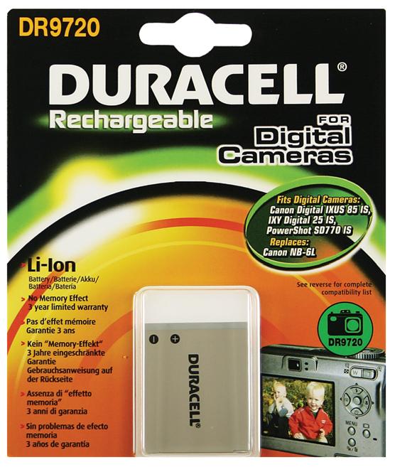 Baterie do fotoaparátu Canon IXUS Digital 85 IS/IXY 110 IS/IXY Digital 25 IS, 700mAh, 3.7V, DR9720, blistr