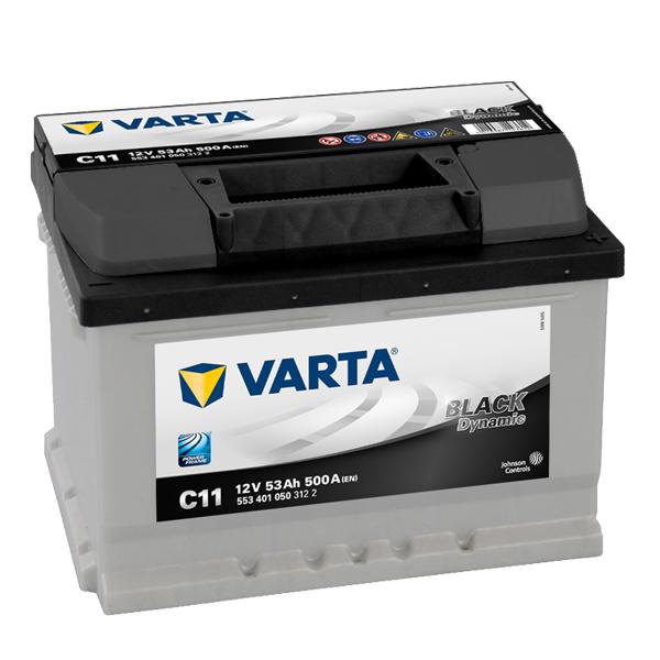 Autobaterie VARTA BLACK Dynamic 53Ah 12V, C11