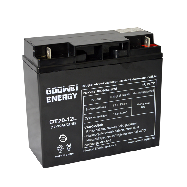 Trakční (GEL) baterie Goowei OTL20-12, 20Ah, 12V