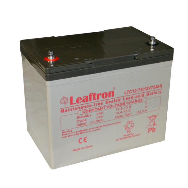 Trakční (AGM) baterie Leaftron LTC75-12, 75 Ah, 12V