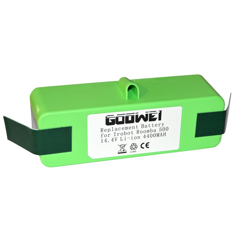 Goowei LITHIUM Baterie pro iRobot Roomba 500/600/700/800 Series, Scooba 450, 4400mAh, 14.4V