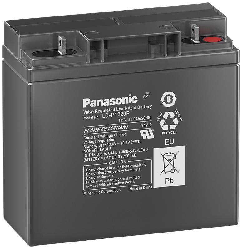 Panasonic LC-P1220P, 12V - 20Ah, záložní baterie