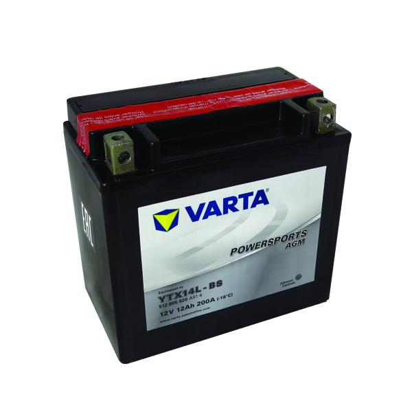 Motobaterie VARTA YTX14L-BS, 12V, 12Ah