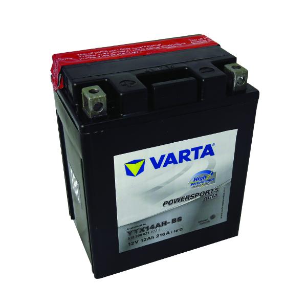 Motobaterie VARTA YTX14AH-BS, 12V, 12Ah