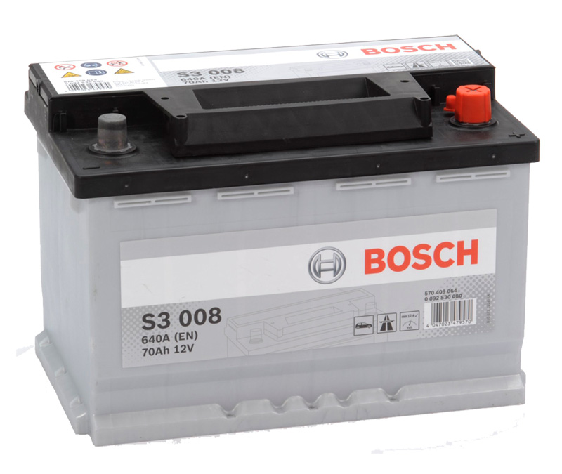 Autobaterie BOSCH S3 008, 70Ah, 12V (0 092 S30 080)