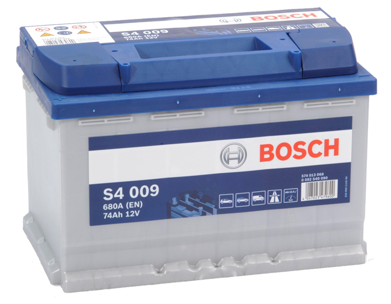 Autobaterie BOSCH S4 009, 74Ah, 12V (0 092 S40 090)