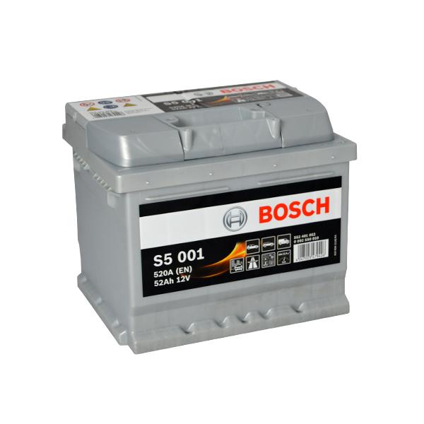 BOSCH S5 12V 52Ah 520A 0 092 S50 010