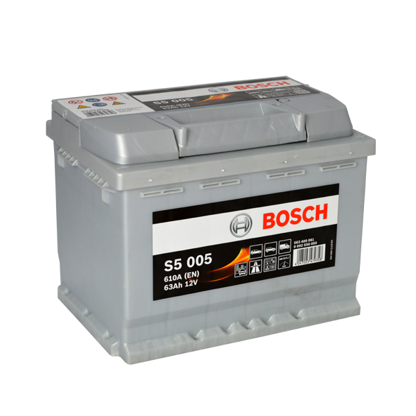 Autobaterie BOSCH S5 005, 63Ah, 12V (0 092 S50 050)