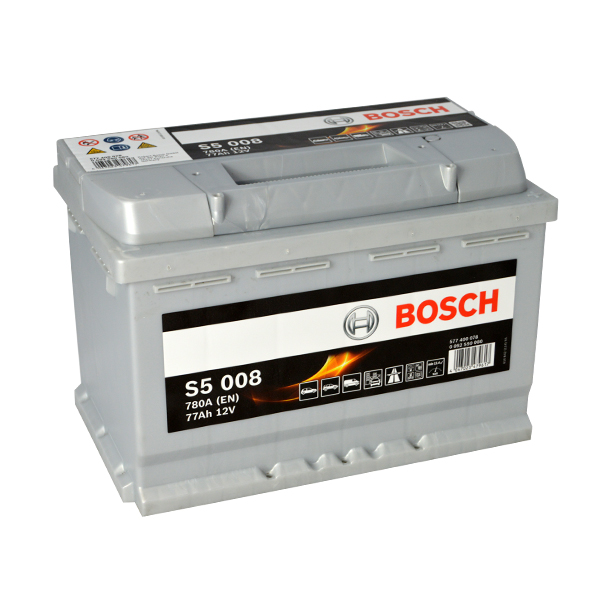 Autobaterie BOSCH S5 008, 77Ah, 12V (0 092 S50 080)