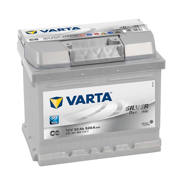 VARTA SILVER Dynamic 12V 52Ah 520A 552 401 052
