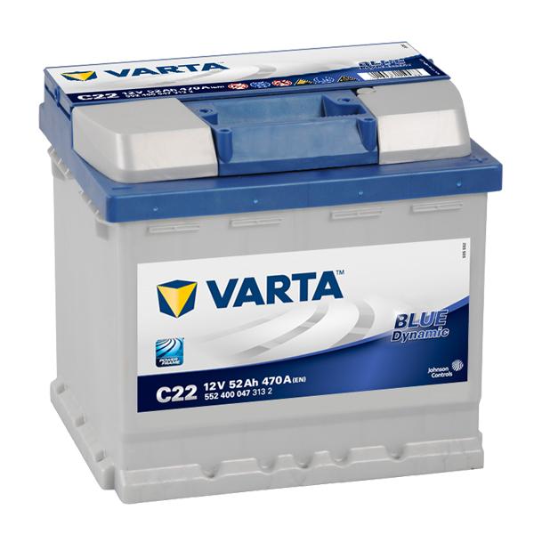 VARTA BLUE Dynamic 12V 52Ah 470A 552 400 047