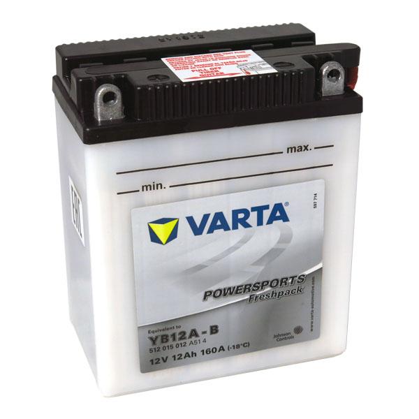 Motobaterie VARTA YB12A-B, 12Ah, 12V