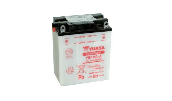 Motobaterie YUASA (originál) YB12A-A, 12V, 12Ah