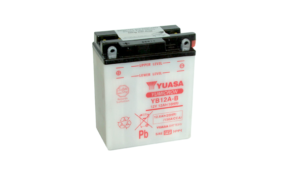 Motobaterie YUASA (originál) YB12A-B, 12V, 12Ah