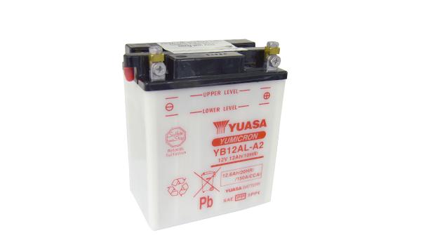 Motobaterie YUASA (originál) YB12AL-A2, 12V, 12Ah