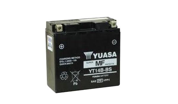 Motobaterie YUASA (originál) YT14B-BS, 12V, 12Ah