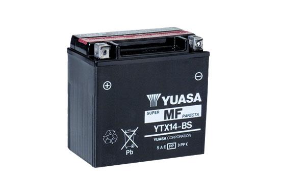 Motobaterie YUASA (originál) YTX14-BS, 12V, 12Ah