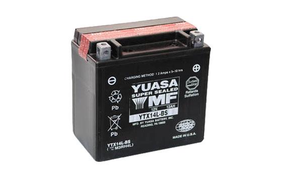 Motobaterie YUASA (originál) YTX14L-BS, 12V, 12Ah