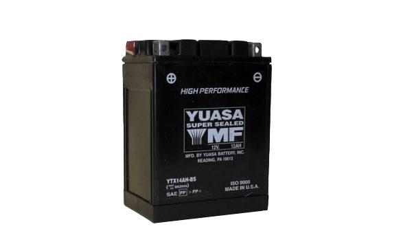 Motobaterie YUASA (originál) YTX14AH-BS, 12V, 12Ah
