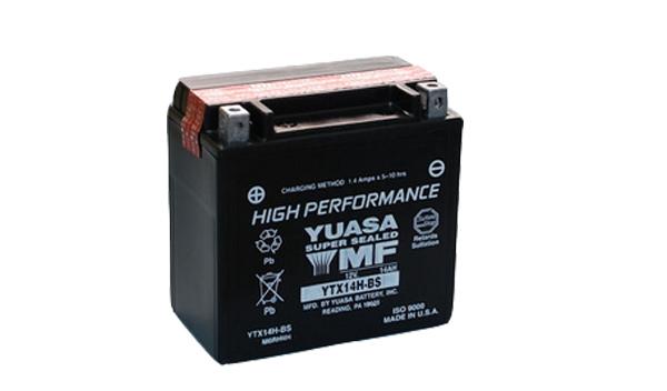 Motobaterie YUASA (originál) YTX14H-BS, 12V, 12Ah