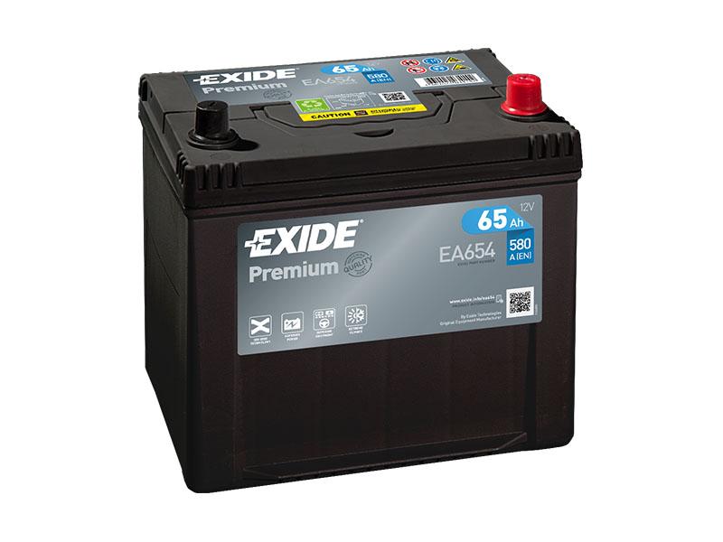 Autobaterie EXIDE Premium 65Ah, 12V, EA654