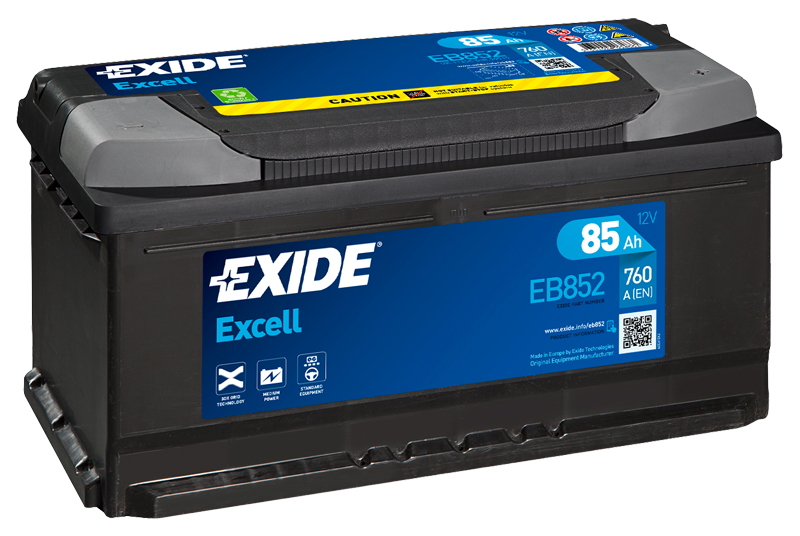 Autobaterie EXIDE Excell 85Ah, 12V, EB852