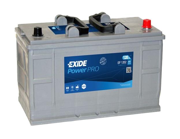 Autobaterie EXIDE Professional Power HDX 120Ah, 12V, EF1202