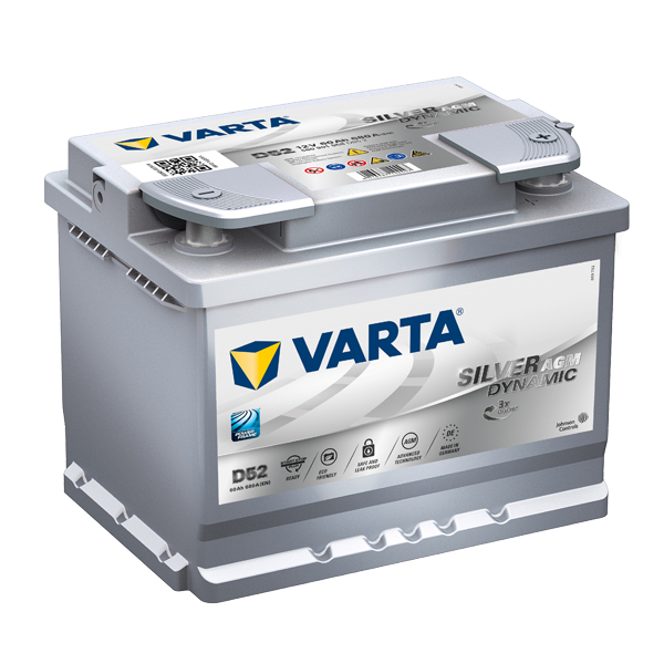 Autobaterie VARTA START-STOP PLUS 60Ah, 12V, D52, AGM