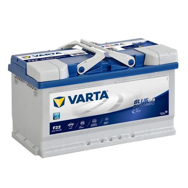 Autobaterie VARTA START-STOP 80Ah, 12V, F22