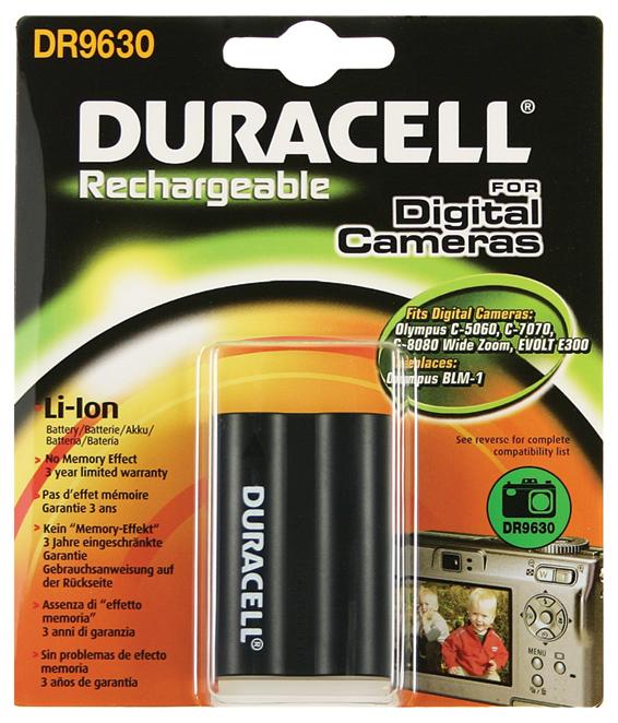 Baterie do fotoaparátu Olympus E-300/E-500/E-520/EVOLTE-300/EVOLTE-330/EVOLTE-500/EVOLTE-510, 1400mAh, 7.4V, DR9630, blistr