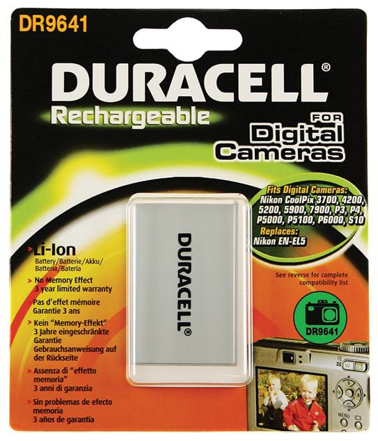 Baterie do fotoaparátu Nikon CoolPix P5100/CoolPix P6000/CoolPix P80/CoolPix P90/CoolPix S10, 1150mAh, 3.7V, DR9641, blistr