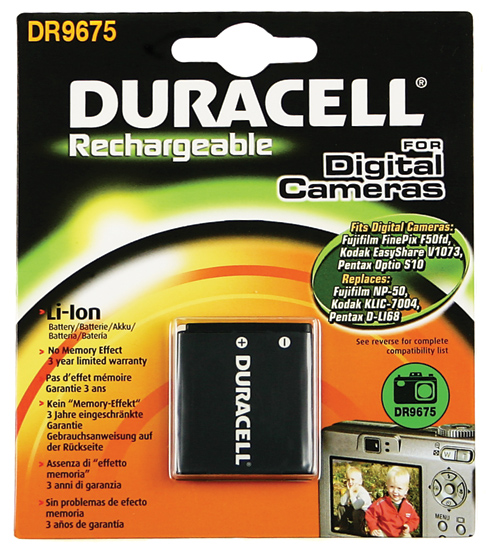 Baterie do fotoaparátu Kodak EasyShare M2008/Mini M200/V1073/V1073 Zoom/V1233/V1253/V1273/V1273 Zoom, 770mAh, 3.7V, DR9675, blistr