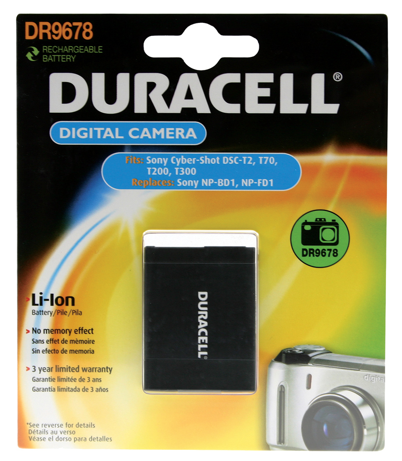 Baterie do fotoaparátu Sony Cybershot t DSC-TX1/Cybershot t DSC-TX1N/Cybershot t DSC-TX1S/Cybershot t DSC-T900, 650mAh, 3.7V, DR9678, blistr
