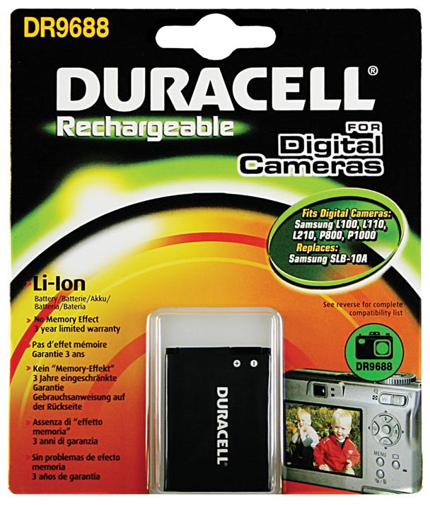 Baterie do fotoaparátu Samsung CL65/CL80/Digimax ES63/ES55/ES57/ES60/HMX-U20/HZ10W/HZ15W/IT100, 750mAh, 3.7V, DR9688, blistr