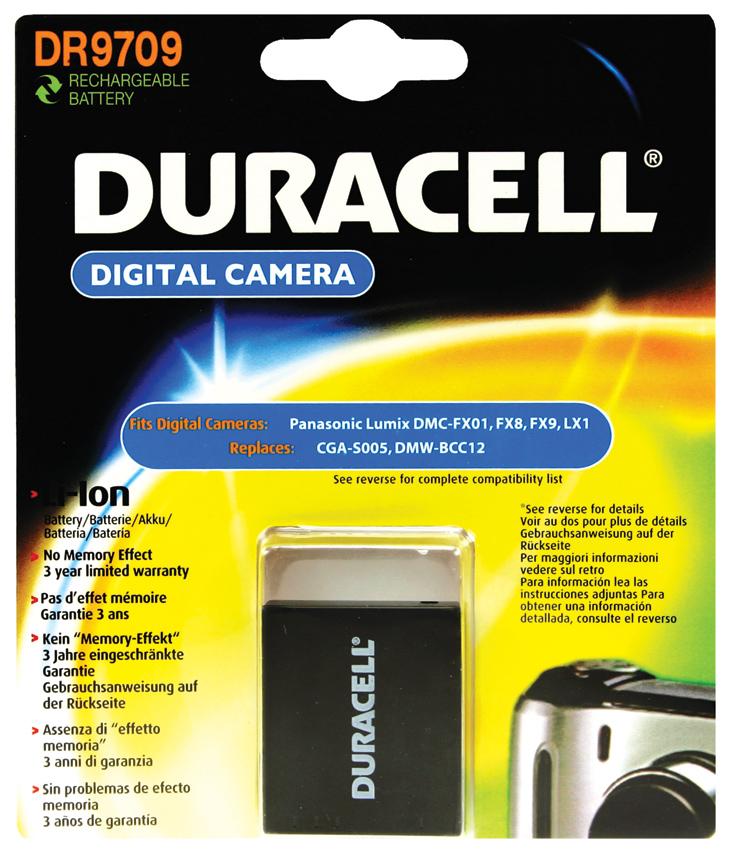 Baterie do fotoaparátu Ricoh/Samsung GRDIGITAL II/GRDigital III/GRDigital IV/GX200/HMX-R10, 1050mAh, 3.7V, DR9709, blistr