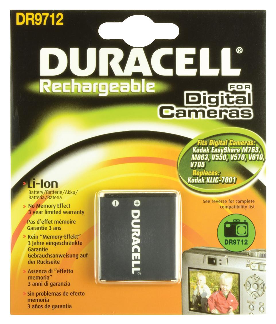 Baterie do fotoaparátu Kodak V603/V610, 700mAh, 3.7V, DR9712, blistr