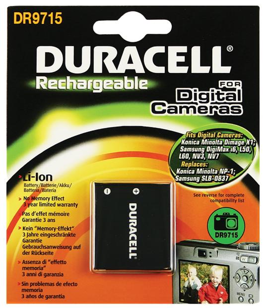 Baterie do fotoaparátu Samsung L700/L700S/L73/Digimax i6/Digimax i6 PMP/Digimax L50/Digimax L60/Digimax L80/i70/i70S, 720mAh, 3.7V, DR9715, blistr