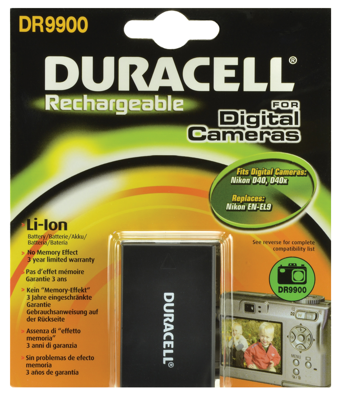 Baterie do fotoaparátu Nikon D3000/D40/D40x/D5000/D60, 1050mAh, 7.4V, DR9900, blistr