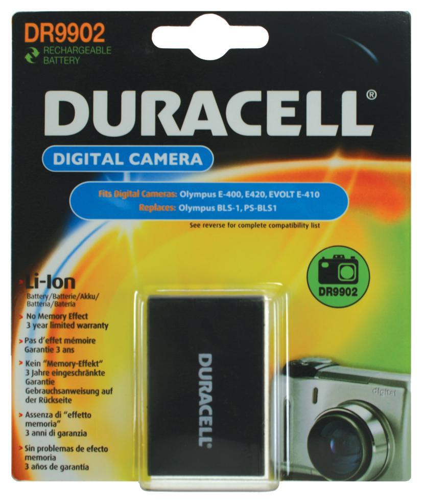 Baterie do fotoaparátu Olympus E-400/E-420/E-450/E-600/E-620/E-P1/E-P2/E-PL1/E450/EVOLTE-410/Pen E-PL1, 1050mAh, 7.4V, DR9902, blistr