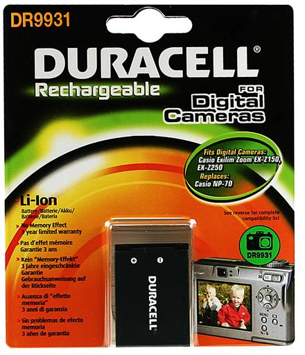 Baterie do fotoaparátu Casio Exilim Zoom EX-Z250PK/Exilim Zoom EX-Z250RD/Exilim Zoom EX-Z250SR, 1000mAh, 3.7V, DR9931, blistr