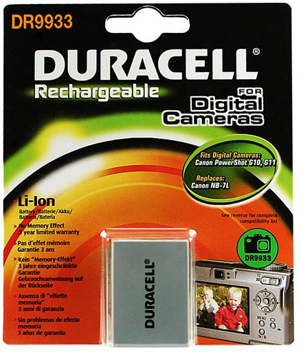 Baterie do fotoaparátu Canon PowerShot G10/PowerShot G11/PowerShot G12/PowerShot SX30/PowerShot SX30 IS, 1000mAh, 7.4V, DR9933, blistr
