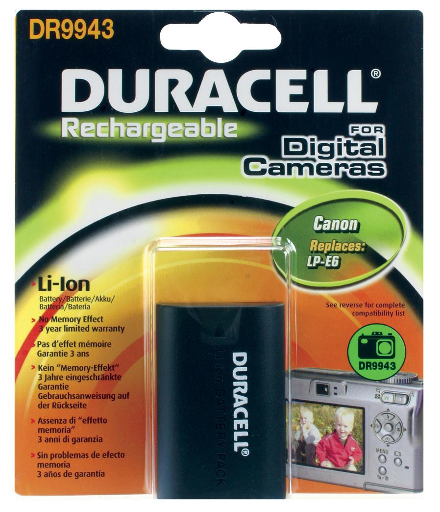 Baterie do fotoaparátu Canon 5D Mark II/5D Mk II/EOS 5D Mark II/EOS 5D Mk II/EOS 60D/EOS 7D, 1400mAh, 7.4V, DR9943, blistr
