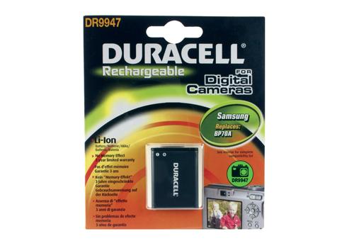 Baterie do fotoaparátu Samsung AQ100/ES65/ES70/ES71/ES73/ES75/ES80/SL50/SL600/SL605, 670mAh, 3.7V, DR9947, blistr