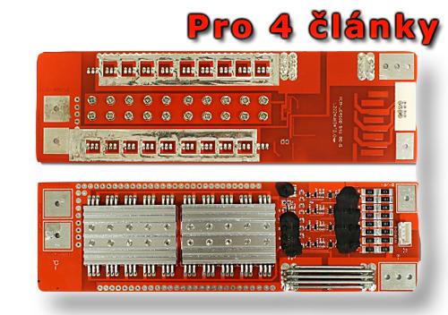 Balanční obvod pro 4 články LiFePO4/LiFeYPO4