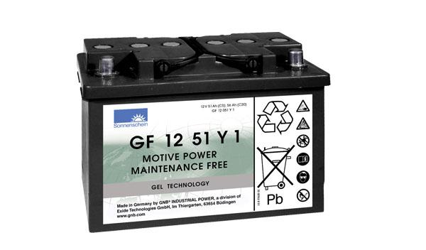 Sonnenschein Trakční gelová baterie GF 12 051 Y 1, 12V/56Ah