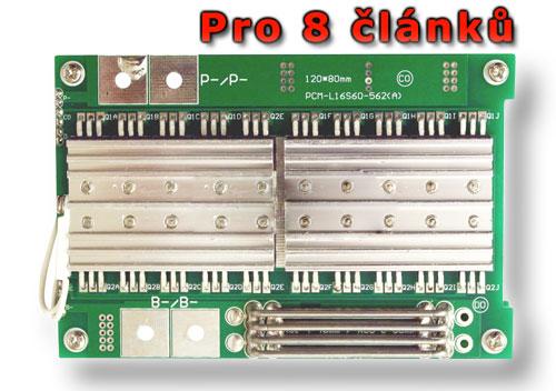Balanční obvod pro 8 článků LiFePO4/LiFeYPO4