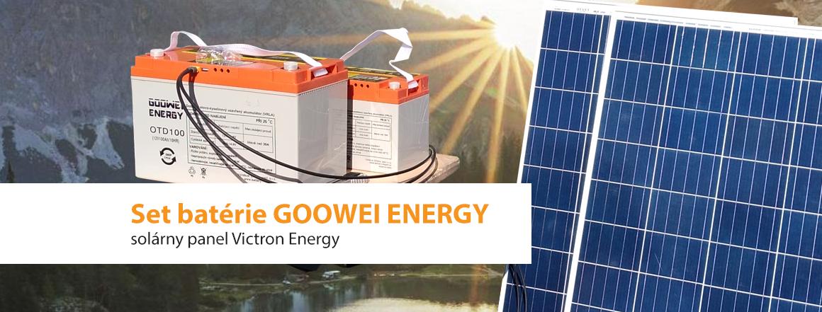 Výhodná ponuka trakčné batérie a solárneho panelu vrátane príslušenstva